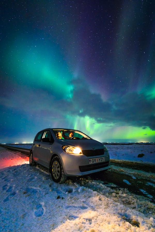 Polarlichtselfie